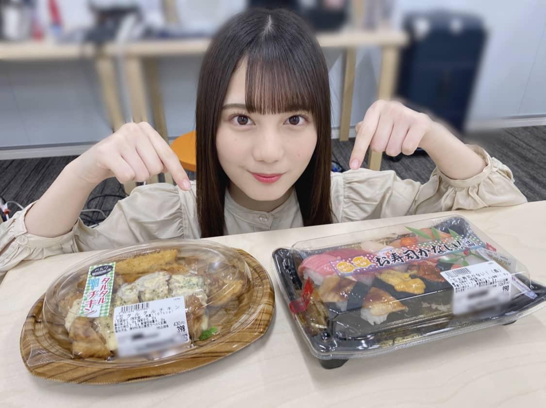 日向坂46小坂菜緒「いや〜、いくらと中トロうまかった」「タルタルチキンッ!」ベルクのコラボ商品をブログで絶賛